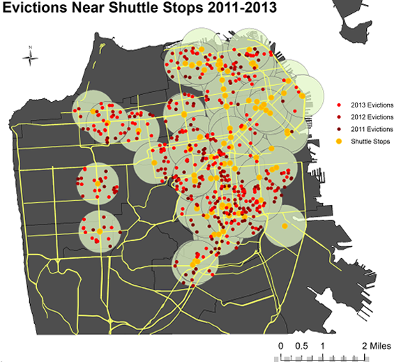 No-fault tech evictions 2011-2013